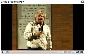 Grillo presenta PpF