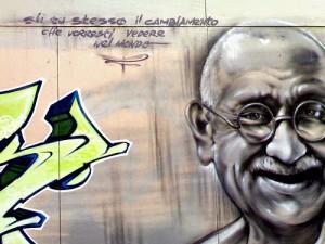 Ghandi murales