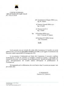 2009.09.01 - Lettera Ufficio Presidente Consiglio Comunale