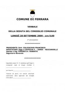 Verbale 28-09-2009