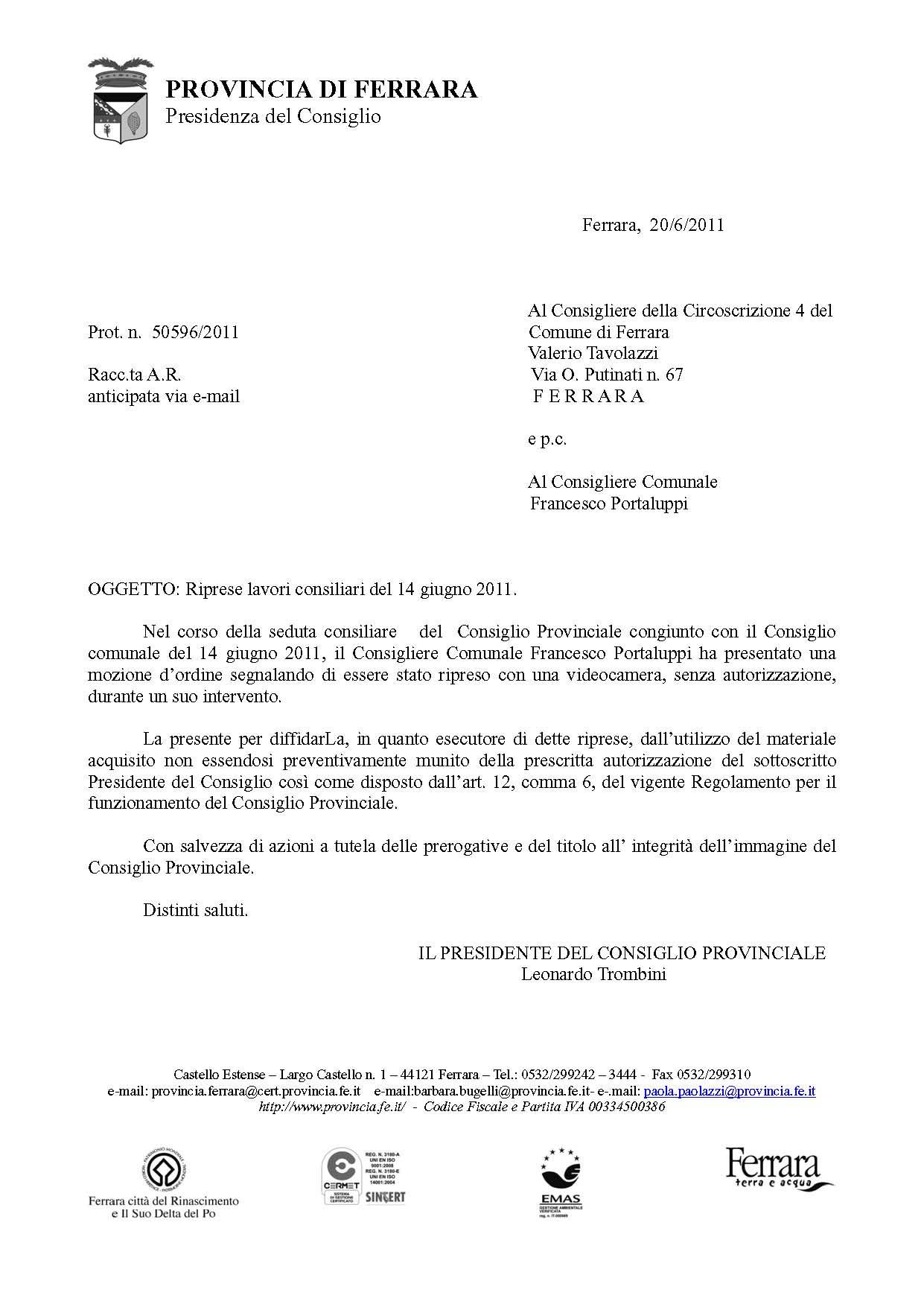 LETTERA A TAVOLAZZI – Provincia_Page_1